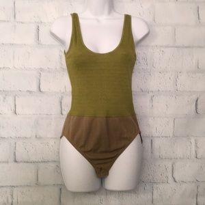 Anne Klein moss green tank bodysuit